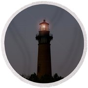Round Beach Towel featuring the photograph Currituck Lighthouse by Greg Reed