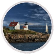 Curtis Island Lighthouse Maine Img 5988 Round Beach Towel
