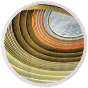 Curving Ceiling Round Beach Towel