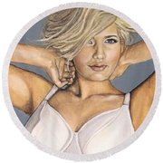 Curvy Beauties - Beautiful Blonde Round Beach Towel