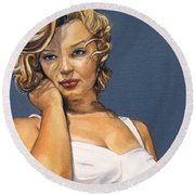 Curvy Beauties - Marilyn Monroe Round Beach Towel
