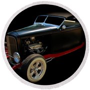 Classic Cars Round Beach Towel featuring the photograph Custom Hot Rod by Aaron Berg