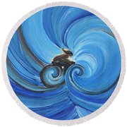 Cycle By Jrr Round Beach Towel by First Star Art