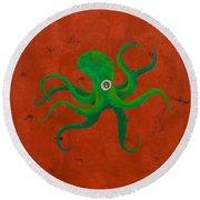 Cycloptopus Red Round Beach Towel