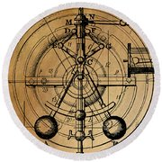 Cyclotron Round Beach Towel by James Christopher Hill