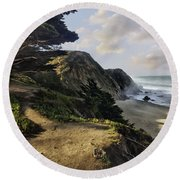 Cypress Beach Round Beach Towel
