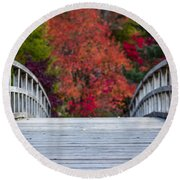 Round Beach Towel featuring the photograph Cypress Bridge by Sebastian Musial