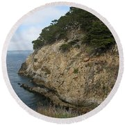 Cypress Cove Panorama Round Beach Towel by James B Toy