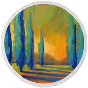 Cypress Road 5 Round Beach Towel