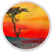 Cypress Sunrise Round Beach Towel