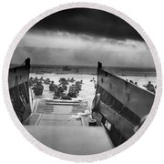 D-day Landing Round Beach Towel by War Is Hell Store