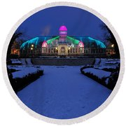 D5l287 Franklin Park Conservatory Photo Round Beach Towel