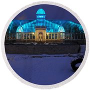 D5l-291 Franklin Park Conservatory Photo Round Beach Towel