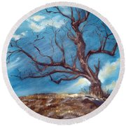 Daddy's Tree Round Beach Towel