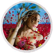 Dafne   Hit In The Physical But Hurt The Soul Round Beach Towel by Alessandro Della Pietra