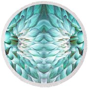 Dahlia Flower Art Round Beach Towel