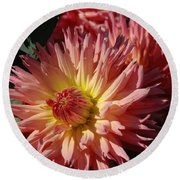 Dahlia Viii Round Beach Towel by Christiane Hellner-OBrien