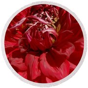 Dahlia Viiii Round Beach Towel by Christiane Hellner-OBrien