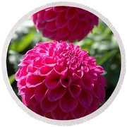 Dahlia Xi Round Beach Towel by Christiane Hellner-OBrien