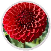 Dahlia Xii Round Beach Towel by Christiane Hellner-OBrien