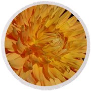 Dahlia Xiii Round Beach Towel by Christiane Hellner-OBrien