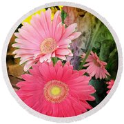 Daisy Jazz Round Beach Towel