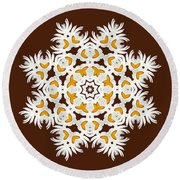 Daisy Mandala  12t Round Beach Towel by Variance Collections