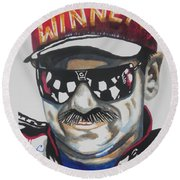 Dale Earnhardt Sr Round Beach Towel