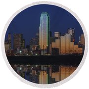 Dallas Aglow Round Beach Towel