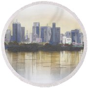 Dallas Round Beach Towel