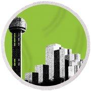 Dallas Reunion Tower Round Beach Towel