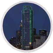 Dallas Skyline Round Beach Towel