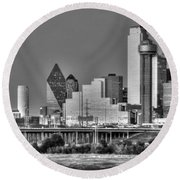 Dallas The New Gotham City  Round Beach Towel