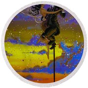 Dance Enchanted Round Beach Towel