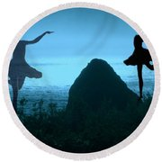 Round Beach Towel featuring the photograph Dance Of The Sea by Joyce Dickens