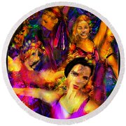 Dance Of The Sugar Plum Fairies Round Beach Towel