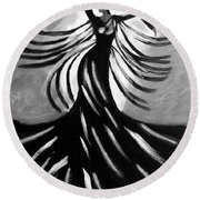 Round Beach Towel featuring the painting Dancer 2 by Anita Lewis