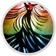 Dancer 3 Round Beach Towel by Anita Lewis