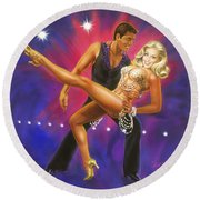 Dancer's Fantasy Round Beach Towel