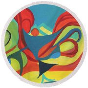Dancing Child Round Beach Towel