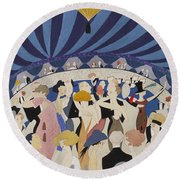 Dancing Couples Round Beach Towel