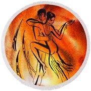 Dancing Fire Iv Round Beach Towel
