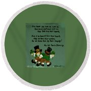 Dancing Folk Round Beach Towel