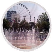 Dancing Fountains Round Beach Towel