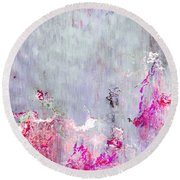 Dancing In The Rain - Abstract Art Round Beach Towel
