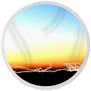 Dancing In The Sunlight Round Beach Towel