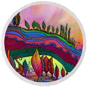 Dancing In The Sunshine Round Beach Towel