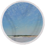 Dancing Sky In April Round Beach Towel