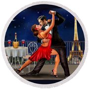 Dancing Under The Stars Round Beach Towel by Glenn Holbrook