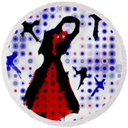 Round Beach Towel featuring the photograph Dancing With The Birds by Jessica Shelton